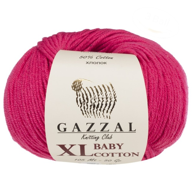 Baby Cotton XL - 3415 cyklamén