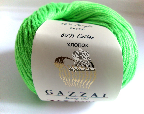 Baby Cotton XL - 342 zelená neon